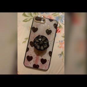 Black Hearts Apple Iphone 7/8 Plus Case
